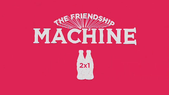 youtube vorschaubild coka cola friendship machine