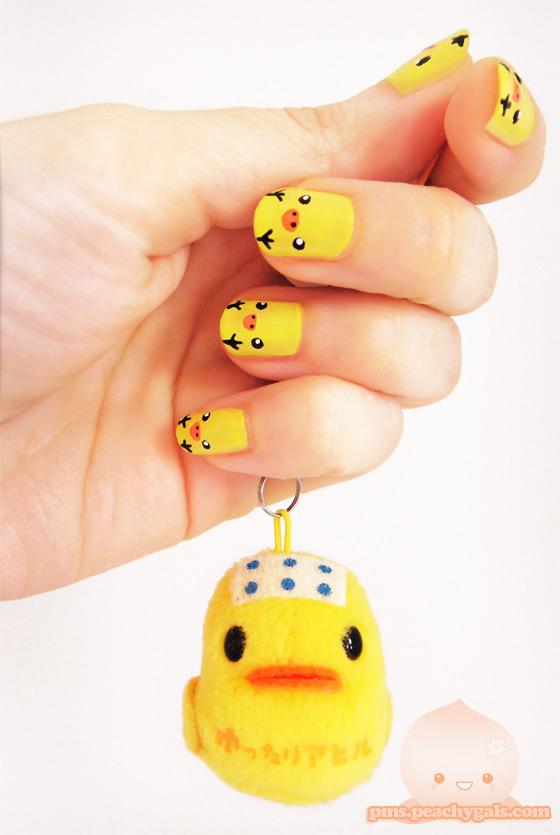 meine nägel mit einem nail-art design von rilakkuma