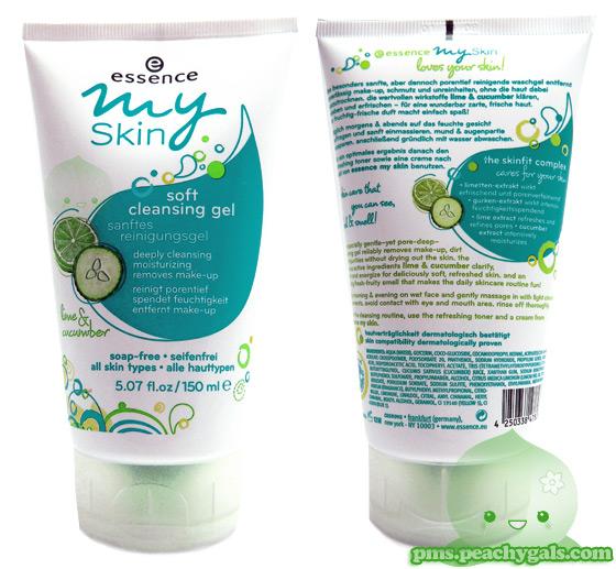 essence my skin soft cleansing gel: vorder- und rückansicht