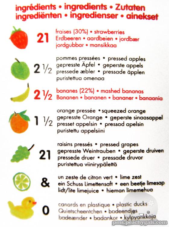 inhaltsangabe eines innocent erdbeer bananen smoothies
