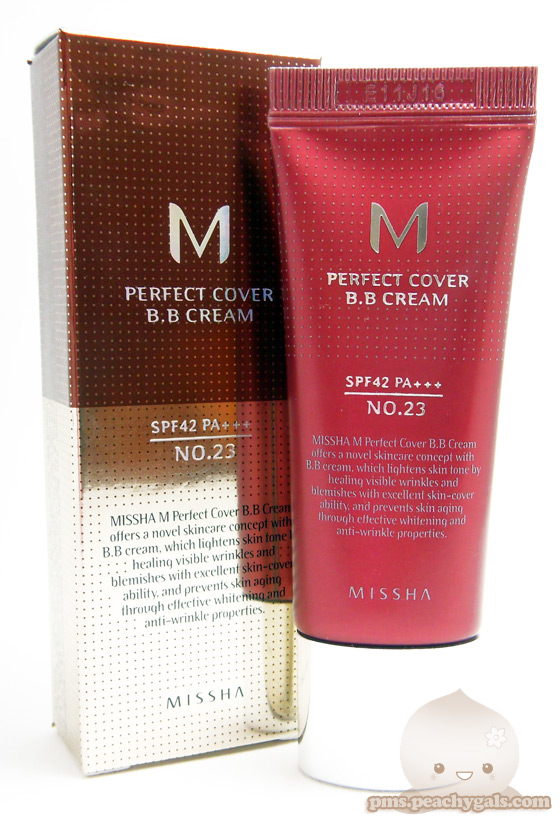 missha m perfect cover bb cream no23