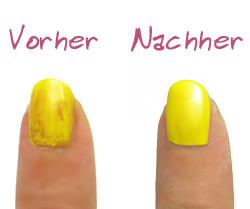 geretteter nagellack - vorher nachher bild