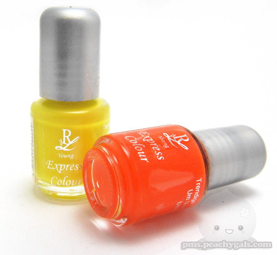 rival de loop young colour express nagellacke gelb und orange