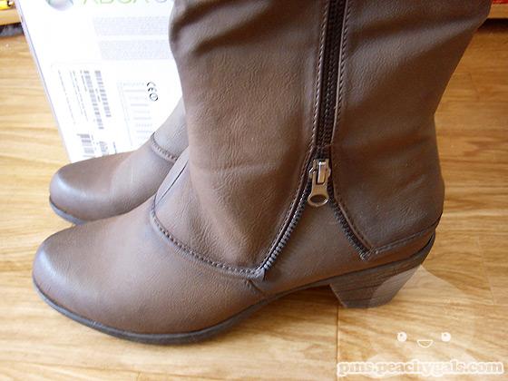 graceland stiefel, braun, unterer teil - 5cm absatz, reißverschluss