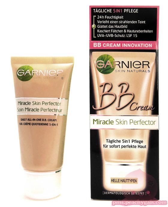 miracle skin perfector von garnier tube + packung